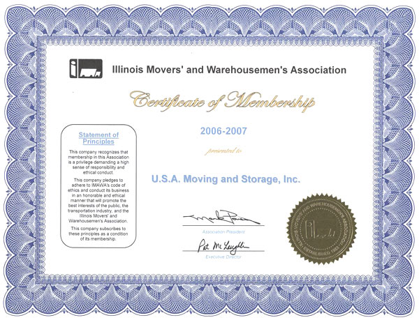 Member of Movers Association - 2006-2007