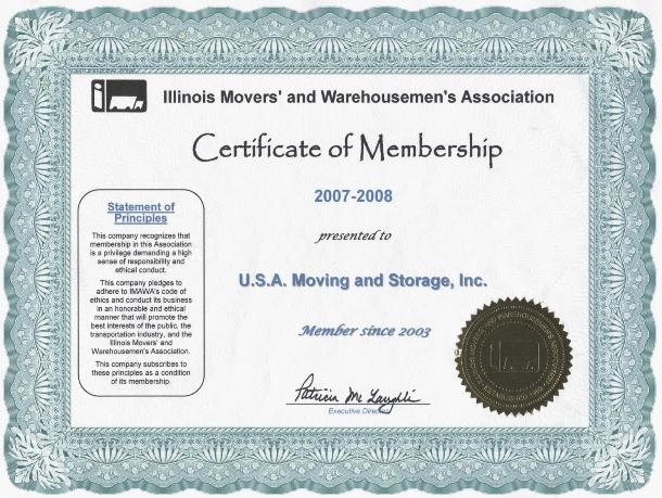 Member of Movers Association - 2007-2008