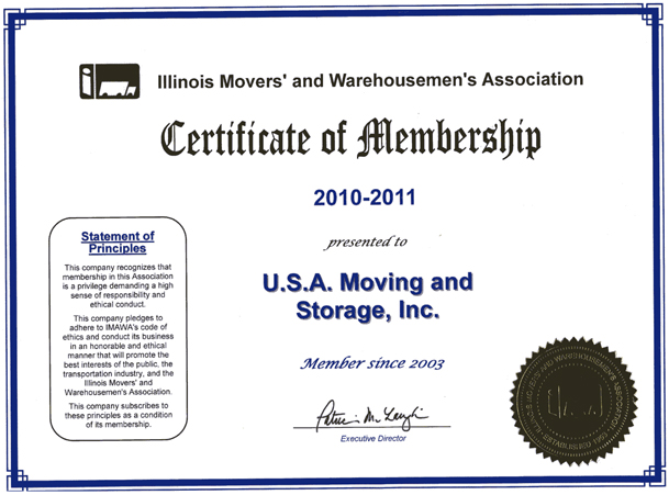 Member of Movers Association - 2010-2011