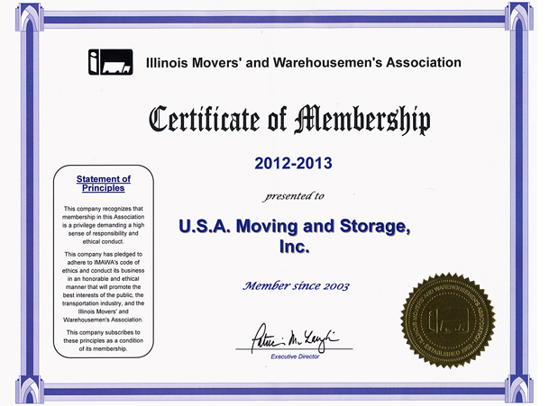 Member of Movers Association - 2012-2013