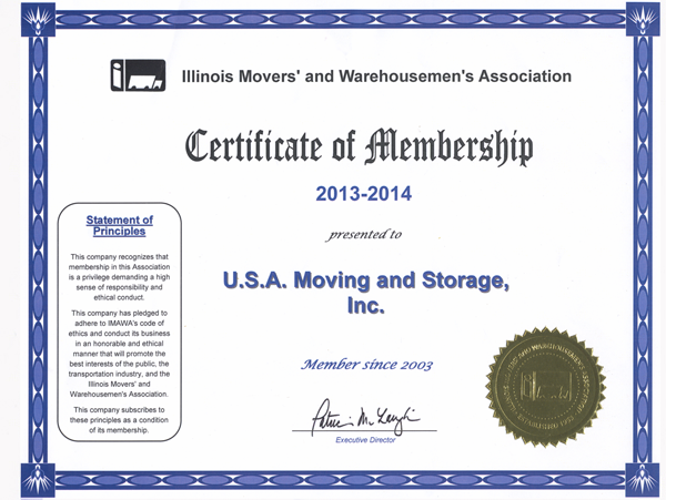 Member of Movers Association - 2013-2014