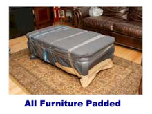 USA movers padding furniture