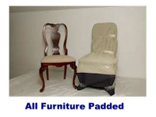 furniture padded by movers